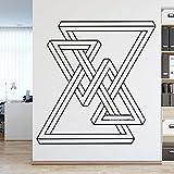 wZUN Etiqueta engomada de la decoración de la Pared del patrón geométrico decoración de la Oficina Creativa Etiqueta de la Pared Papel Pintado Abstracto Mural de Vinilo 63X64cm