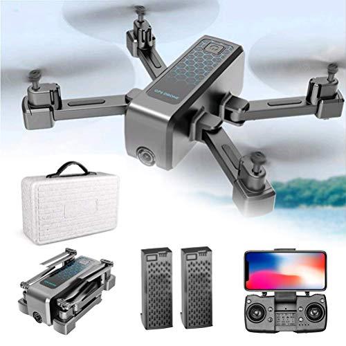 DCLINA Drone posicionamiento GPS, Drones con cámara 4K HD, 4k Drone 5G WiFi transmisión en Tiempo Real, Mini Drones con cámaras duales, FPV Drone con Modo Disparo MV, 40 Minutos duración la batería