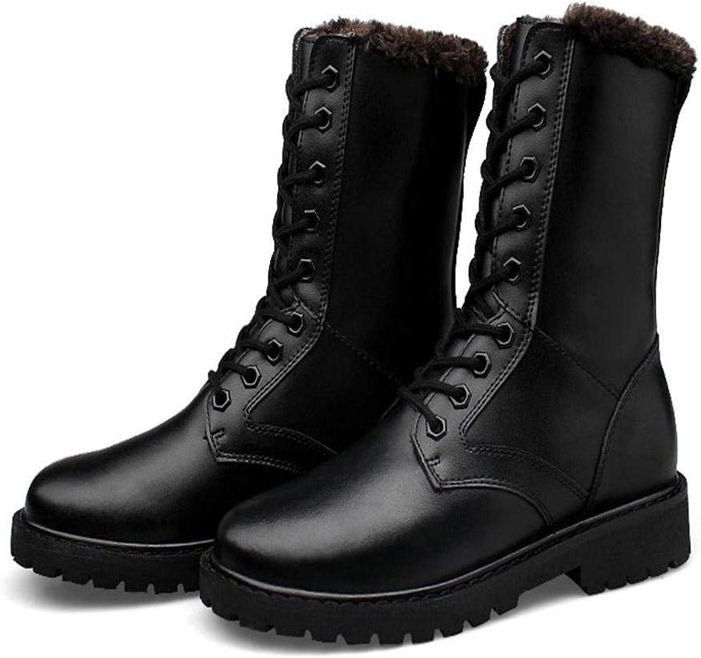FuweiEncore Stövlar på mäns skor modeskor höst och vinterskor för för för män (färg  svart, storlek  46)  kundens första rykte först