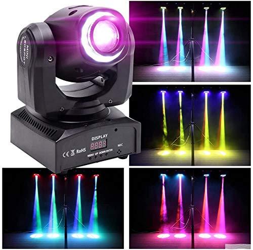 50W Moving Head LED-Strahl Bühneneffektbeleuchtung mit 8 Mustern + Rotation + Farbmischung + Halbfarbeneffekt für DJ Show Concert Party KTV