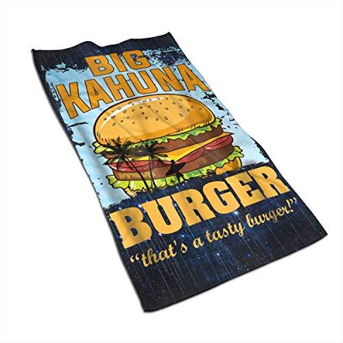 QHMY Big Kahuna Burger Weiches Badetuch Reiseabsorbierendes Gesichtstuch