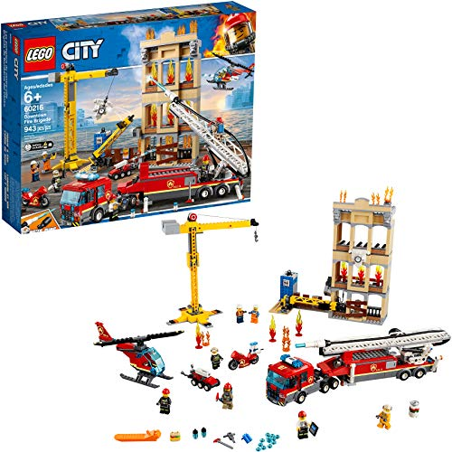 LEGO City Downtown Fire Brigade 60216 Building Kit (943...