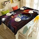 Mantel Lavable con patrón Espacial Misterioso Lobo Espacial Cielo Estrellado...