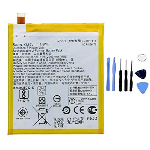 Ellenne Batteria Compatibile con ASUS ZENFONE 3 ZE552KL ZD552KL C11P1511 AD Alta capacità 3000MAH con Kit SMONTAGGIO Incluso by Store