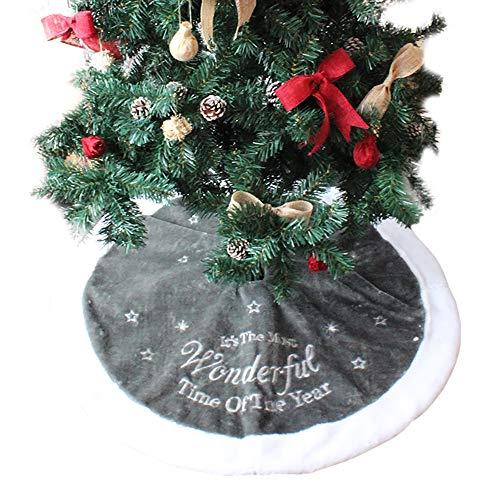 PICTURESQUE Graue Tannenbaum Decke Weihnachtsbaum Rock Weihnachten Dekoration