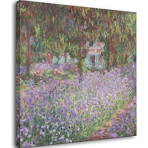 Claude Monnai-Irises in Monet, decorazione da parete per bagno, camera da letto, soggiorno, cornice1, 30 x 30 cm