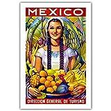 shuimanjinshan Cartel de Viaje Vintage de Cachemira Leningrado Malaya Mandarinetto México (Pt-276) 50x70cm Sin Marco