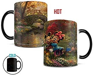 Disney – Mickey and Minnie Mouse – Thomas Kinkade – Sweetheart Central Park – New York – Morphing Mugs Heat Sensitive Mug – Ceramic Color Changing Heat Reveal Coffee Tea Mug – by Trend Setters Ltd.