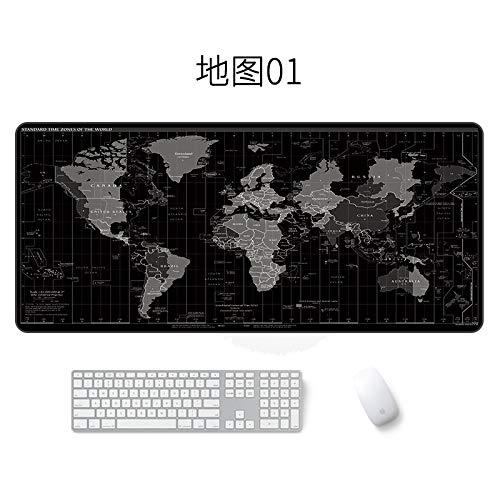 Alfombrilla de ratón de Mapa Alfombrilla de ratón Impermeable Grande Mapa 01 400 * 900 * 3 mm