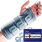 Carpal Tunnel Wrist Brace | Night Sleep Support Brace, Removable Metal Wrist Splint- Hot/Ice Pack, Left Hand, Small/Medium, Adjustable Hand Brace for Men, Women, Relieve and Treat Wrist Pain