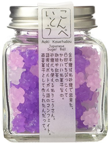 Konpeito [Wisteria Flowers 'Fuji'] (50g) [Kyoto Japan Import] Glass Bottle