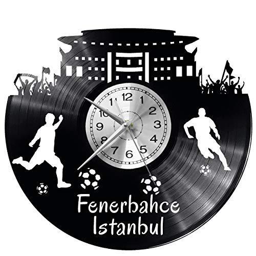 Istanbul Fenerbahce Wanduhr Uhr Vinyl Schallplatte Retro-Uhr groß Uhren Style Raum Home Dekorationen Tolles Geschenk Decor Raum Inspirierende Wand Vinyl Record Kovides Vinyl Home