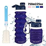 bridawn Collapsible Water Bottle Travel BPA Free Silicone Food-Grade FDA Approved Leak Proof