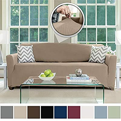 Sofa Shield Original Fitted 1 Piece Slipcover Couch Furniture Protector, Soft Stretch Material, Machine Washable, Cover Perfect for Pets and Kids