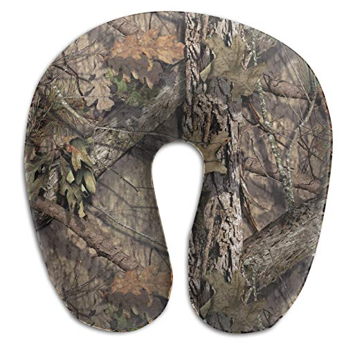 Memory Foam Travel Camouflage Camo Neck Pillows U Shape Pillow Airplane Pillows with Washable Cover for Plane Train Car Bus Office 11.8' X 11.4'
