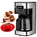 BOSCARE 10 cup Programmable Coffee Maker CM1429TA-UL, Keep Warm Drip Coffee Machine,Easy Read LED Display with Permanent FIlter Coffee Maker