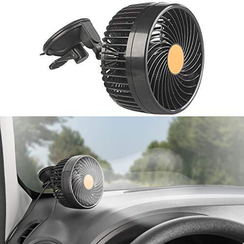Lescars 24 Volt Ventilator Lkw: LKW- & Kfz-Ventilator f. 24-V-Anschl, stufenlose Geschwindigkeit, 12W (Ventilator 24V Lkw)