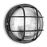 Electraline 65009 - Lámpara de pared, diseño ojo de buey (60 W), color negro