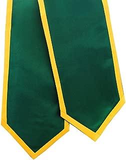 Graduation Stoles Forest Green w/Trim