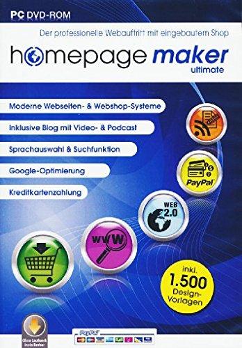 homepage maker 11 Ultimate. Für Windows 10, 8, 7, Vista, XP (SP2 oder höher)