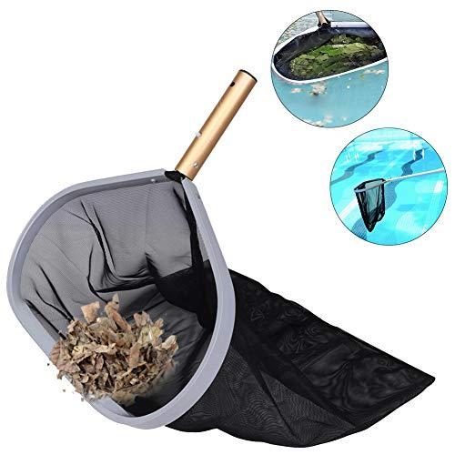 Hilai 1PC Pool Skimmer Net Swimming Pool Net Pool Kescher Leaf Skimmer Reinigungsgerät für Wassergeräte Hochleistungs-Laubrechen mit Deep Bag Pool Net für Blätter