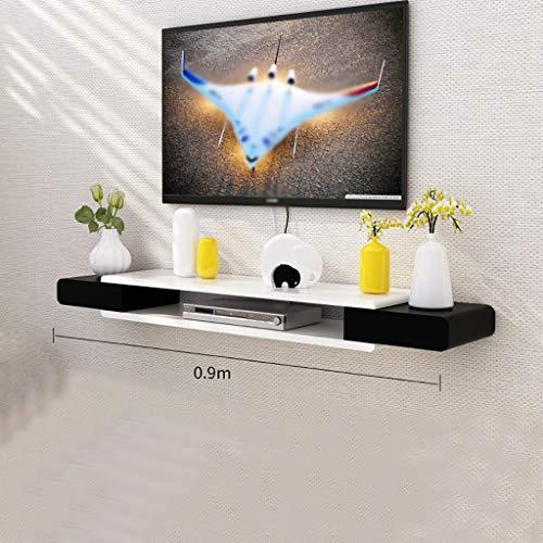Tablettes flottantes Floating TV-Stand-Schrank Holz Multimedia-Speicherregal Wandhalterung Unterhaltungsgerät, moderner TV-Stand-minimalistischer TV-Schrank Wanddekoration TV-Konsolen-Regale für Wohnz