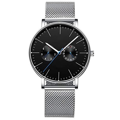 Acher Fashional Men's Watch, Trendy Automatic Machinery Watch (Color : Black)