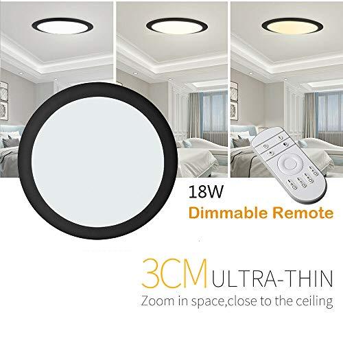 18W/24W/36W UFO LED Deckenleuchte Ultraslim Modern Deckenlampe Flur Wohnzimmer Lampe Schlafzimmer Küche Energie Sparen Licht Wandleuchte (Dimmbar, 34cm-18W)