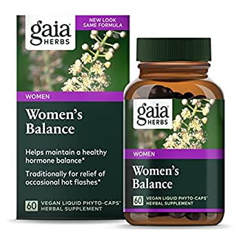 Gaia Herbs Women s Balance Vegan Liquid Capsules 60 Count - Hormone Balance for Women Mood and Liver Support Black Cohosh St John s Wort Organic Red Clover & Dandelion Root