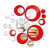 PMSMT Nueva Etiqueta de la Pared Calientedecoración del hogar acrílico Estilo Moderno Muebles del Centro Pegatinas de Superficie del Espejo Relojes de Cuarzo Arte