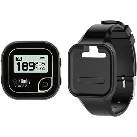 【GOLFBUDDY(ゴルフバディー)】 GB VOICE2 ブラック 音声型 GPS 距離測定器 ブラック バンドパッケージ (日本正規品)