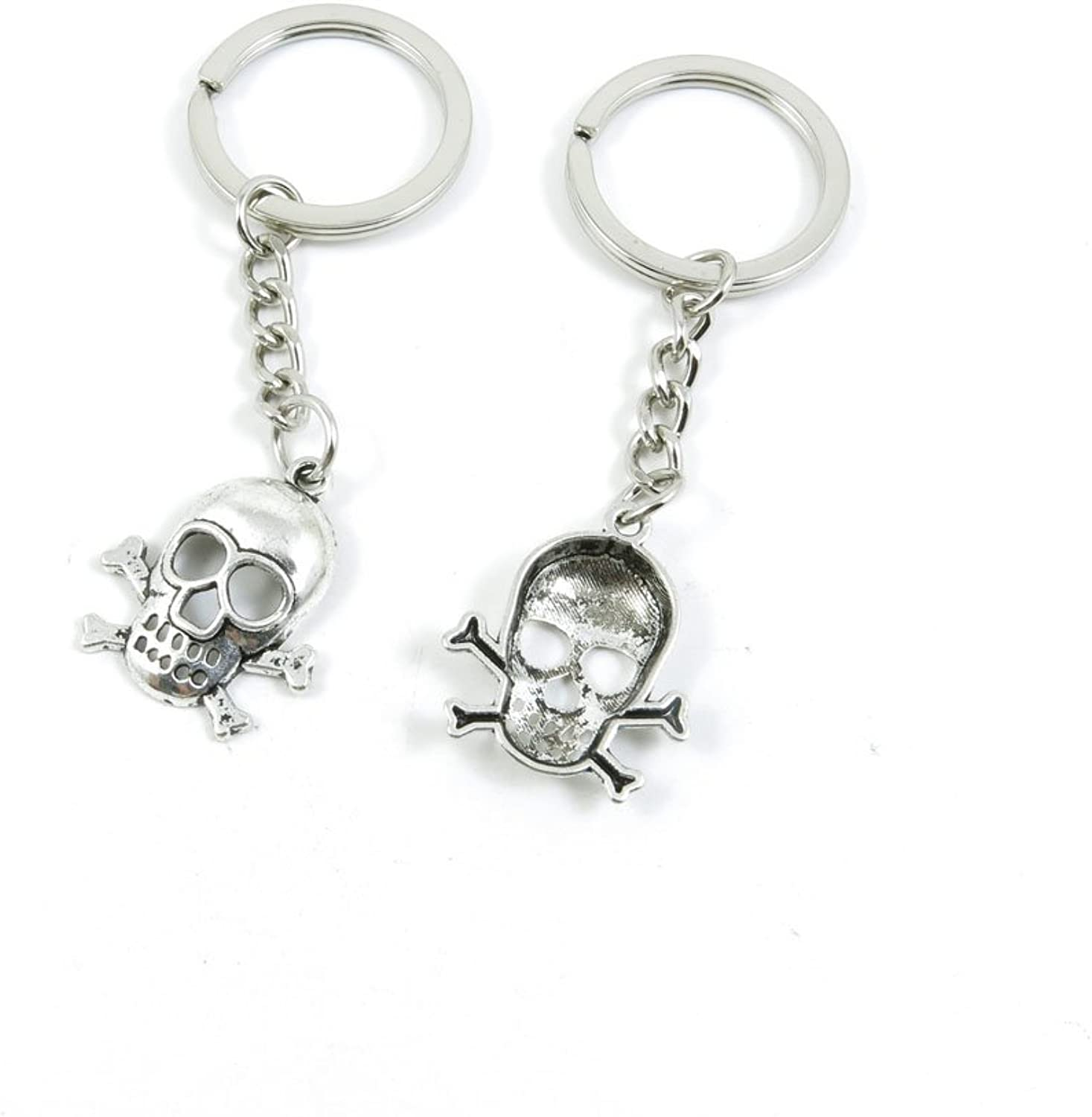 210 Pieces Fashion Jewelry Keyring Keychain Door Car Key Tag Ring Chain Supplier Supply Wholesale Bulk Lots I3KU4 Skull Head