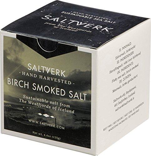 Saltverk Birch Smoked Salt - Meersalzflocken geräuchert mit isländischer Birke, 1er Pack (1 x 125 g)