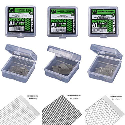 WOTOFO nexMESH TURBO, CHILL, EXTREME Mesh Coils Verdampfer RBA, A1, Ni80, Profile 1.5 RDA, RBA (EXTREME - 0,16 Ohm)