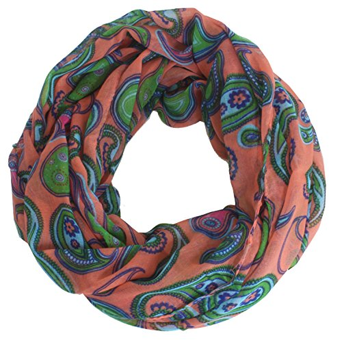 Taschentrend Desilooppa - Loop Schlauchschal Damenschal mit Karo Punkte Paisley viele Designs und Farben