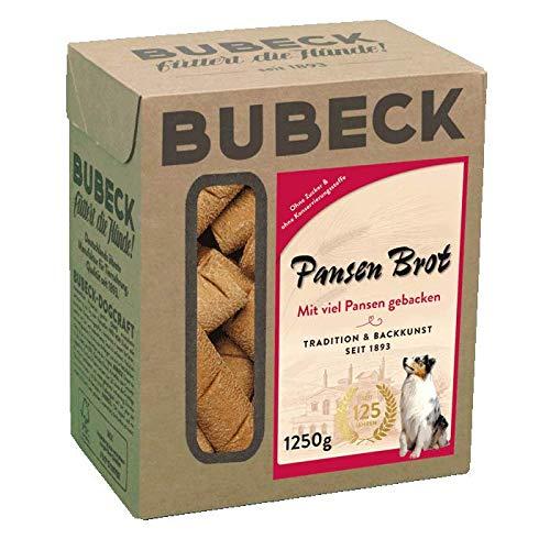 Bubeck | Hundeleckerli mit Weizen | für Hunde Aller Rassen | Hundekuchen mit Pansen & Weizenmehl | natürlicher Hundesnack zuckerfrei (1,25 Kg)