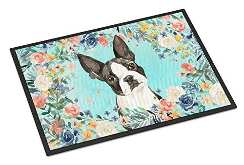 Caroline's Treasures Boston Terrier - Felpudo para Interiores o Exteriores, 45,7 x 77,8 cm, Multicolor