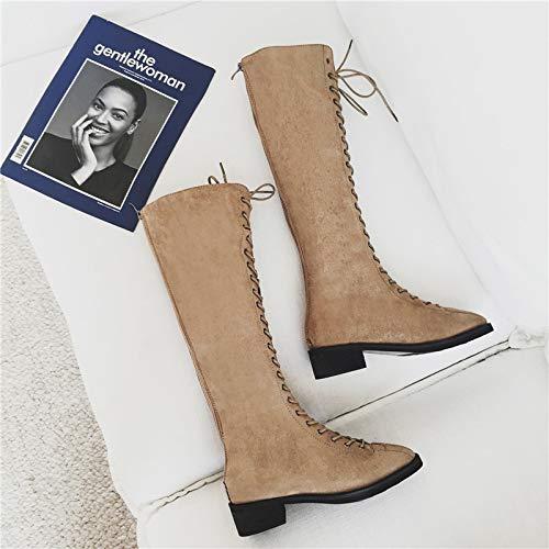 Shukun Enkellaarzen Martin Boots Vrouw Herfstlaarzen Waren Dun Over De Knielaarzen Vrouw Lange Hoge Laarzen