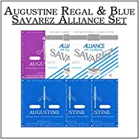 AUGUSTINE REGAL & BLUE + SAVAREZ ALLIANCE SET クラシックギター弦 複合セット