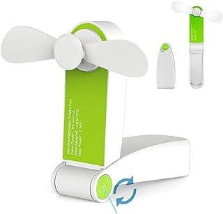 Jhua Ventilador Personal de Mano Mini USB Ventilador de Escritorio Portátil Ventiladores de Viaje Recargable Ventiladores de Bolsillo para Hogar Viaje Small hanheld Fan ( Verde)
