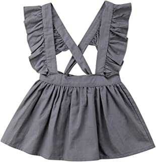 d418979789 mlpeerw Newborn Baby Girl Suspender Skirt Summer Sleeveless Strap Braces  Overall Dress Outfits Clothes