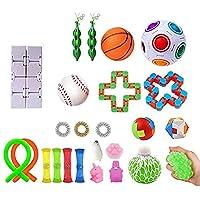 Uing 感覚そわそわおもちゃ、安全な無毒の子供用スクイーズおもちゃセット、自閉症ADHDの人々のための最高の感覚おもちゃセット、ストレス解消と抗不安、子供大人のための適切なギフト、9種類のおもちゃセット richly