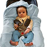 Pastel Blue Baby Car Seat Blanket for Baby and Toddler Boys by Everyday...