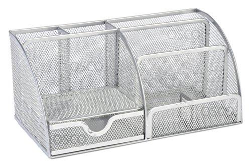 Osco - Organizador de escritorio grande (malla, resistente,