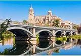 ZZXSY Puzzles De Madera 1000 Piezas La Catedral De Salamanca Es Una Catedral Gótica Y Barroca Tardía En La Ciudad De Salamanca, Castilla Y León En España Apto
