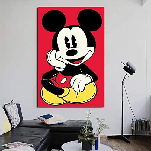 Cartoon Kunst Tapete Leinwand Ölgemälde drucken Wohnzimmer Hauptdekoration Moderne Wandkunst Ölgemälde,Rahmenlose Malerei,50x75cm