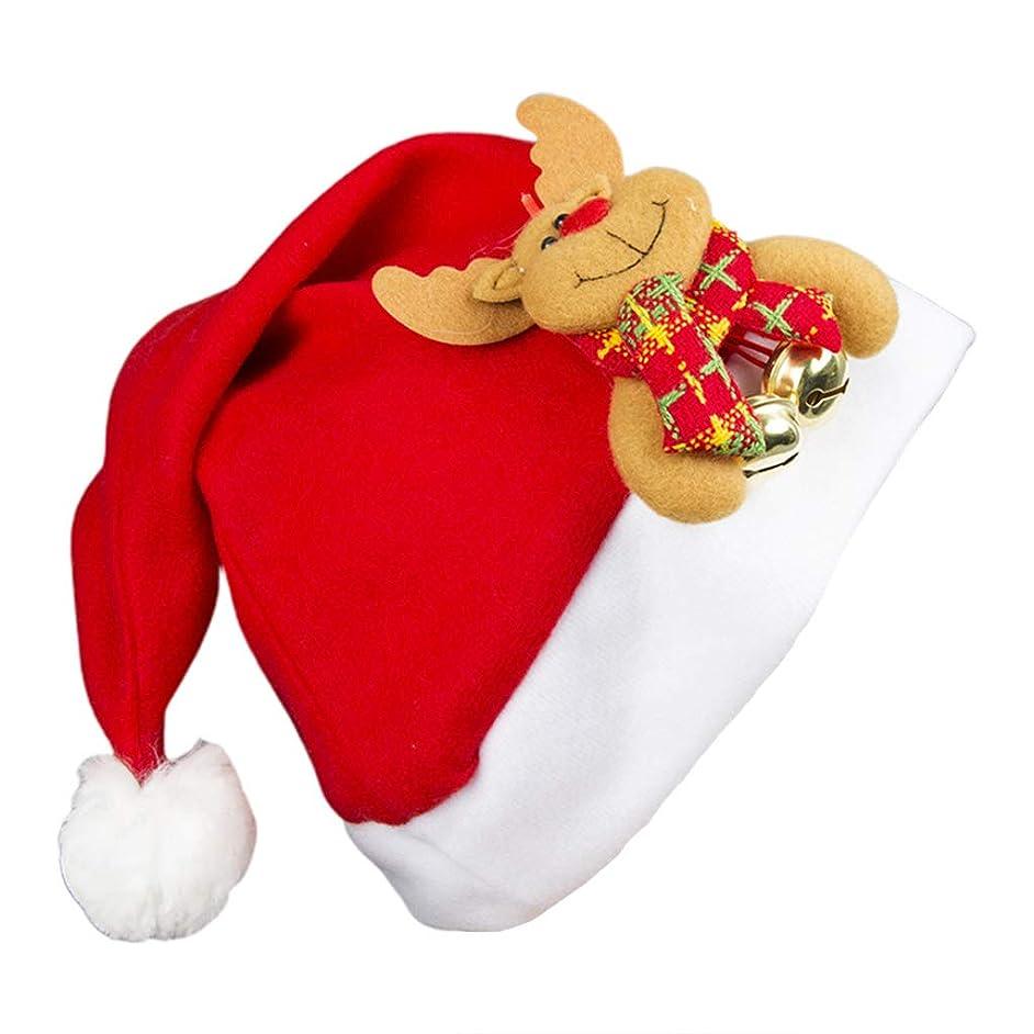 自由情報告白するユニセックス男性女性かわいい漫画ベルリングクリスマス帽子ソフトフランネル暖かいキャップコスプレ衣装おかしいパーティー写真小道具ギフト大人の子鹿ワンサイズ