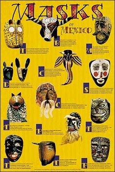 Preisvergleich Produktbild Stick It On Your Wall Poster Masks of Mexico,  91, 5 x 61 cm,  Gelb