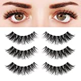 BEPHOLAN 3 Pairs Multi-layered Faux Mink Lashes| Fluffy Volume Lashes| Natural Look| 3D Layered Effect| Reusable| 100% Handmade & Cruelty-Free| Easy to Apply| XMZ92