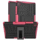 HoYiXi Funda para Tablet Lenovo Tab M10 HD (2ª Generación) de 10,1' 2020 Anti-Drop Estuche Cubierta de Doble Protectora Cover Case para Lenovo Tab M10 HD (2ª Generación) TB-X306X/TB-X306F - Fucsia